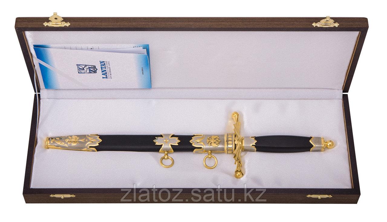 Нож из дамасской стали ручной работы Дипломатический - Купить в Казахстане - фото 2