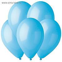 """Шар латексный 12"""", пастель, набор 100 шт., голубой"""