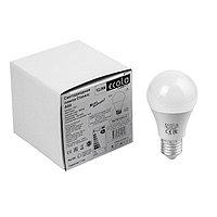 Лампа светодиодная Ecola Light, A60, E27, 12 Вт, 4000 K, 110x60 мм, дневной белый