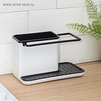 Подставка для ванных и кухонных принадлежностей, 21×11×12 см, цвет МИКС