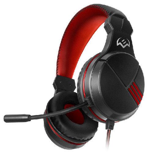 Sven Наушники компьютерные Игровые с микрофоном AP-G828MV, черный-красный наушники (AP-G828MV)