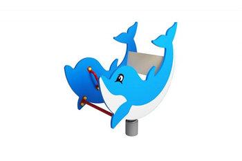 Качалка на пружине Дельфинчик