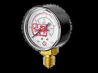 TM-210P.00 (0-30/12L/min(0,4MPa) M12x1,5.2,5. CO2 МАНОМЕТР 50 мм, ТИП-ТМ-210Р,М12х1,5 (снизу)0-40/14L/min