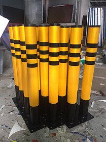 Изготовление и установка сигнальных  столбиков из металла
