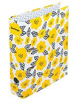 """Папка-регистратор Berlingo """"Hyper"""" А4, ширина корешка 80 мм, с рисунком желтый"""
