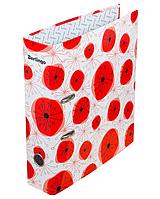 """Папка-регистратор Berlingo """"Hyper"""" А4, ширина корешка 80 мм, с рисунком красный"""