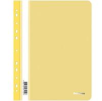 Папка-скоросшиватель Berlingo с перфорацией, А4, 180 мкм, желтая