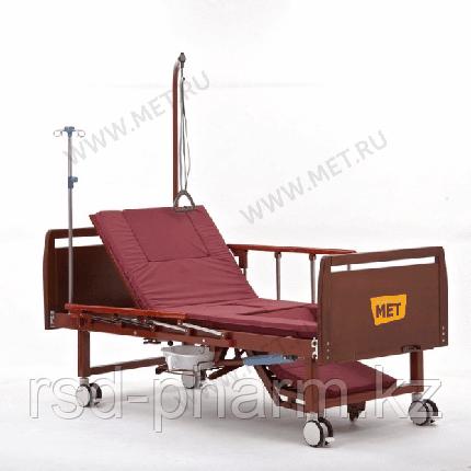 Комплект медицинской кровати MET EMET с электроприводом, с положением кардиокресло, с туалетом, фото 2