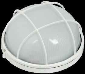 Светильник НПП 1102 белый круглый с решеткой 100Вт IP54