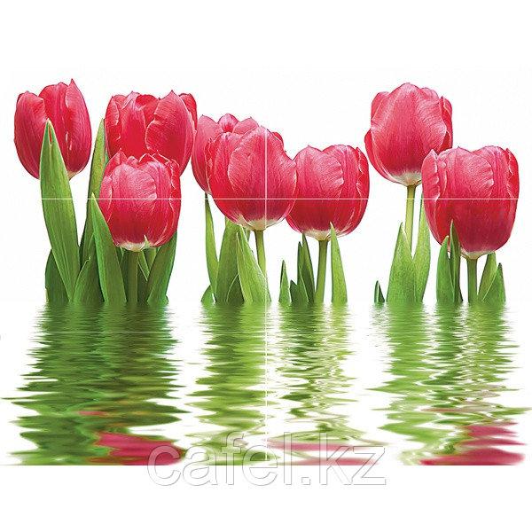 Кафель | Плитка настенная 25х50 Фреш | Fresh (панно из 6 плиток) тюльпан