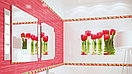 Кафель | Плитка настенная 25х50 Фреш | Fresh (панно из 2 плиток) тюльпан, фото 4