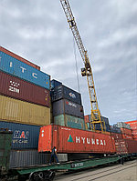 Терминальные работы: 40ft груженный контейнер