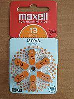 Слуховые батарейки  MAXELL PR48 (13) 6BS ZINC AIR