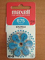 Слуховые батарейки MAXELL PR44 (675) 6BS ZINC AIR