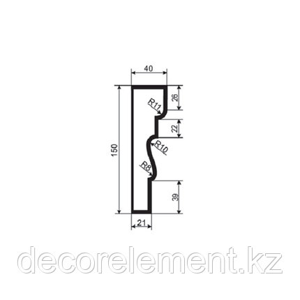 Наличники для фасада Н 150/2, фото 2
