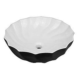 Умывальник чаша 8013WB черная (встраиваемая раковина)