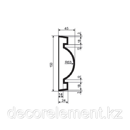 Наличники для фасада Н 150/7, фото 2