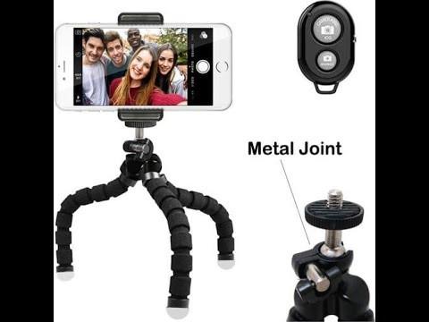 Мини Портативный Гибкий штатив-Осьминог с губкой,  с пультом дистанционного управления для фото и видео