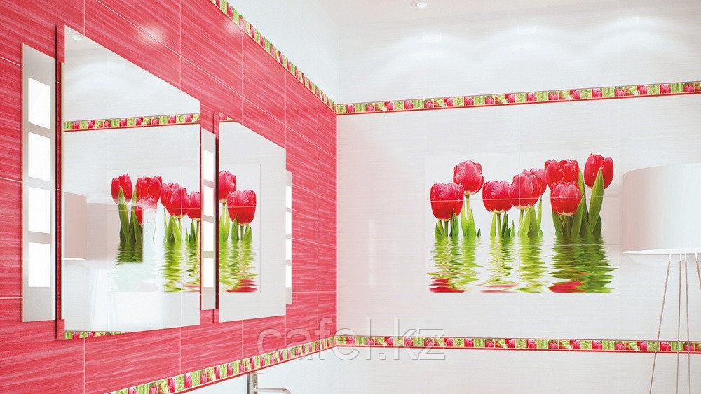 Кафель | Плитка настенная 25х50 Фреш | Fresh бордовый