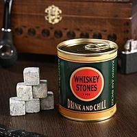 """Набор камней для виски """"Drink and chill"""", в консервной банке, 9 шт."""