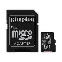 Карта памяти MicroSD 64GB Class 10 UHS-I Kingston SDCS2/64GB