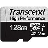 Карта памяти MicroSD 128GB Class 10 U1 Transcend TS128GUSD350V