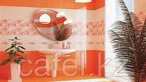 Кафель | Плитка настенная 20х40 Кураж 2 | Courazh 2 оранжевый
