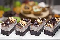 Шоколадно-ореховое пироженное