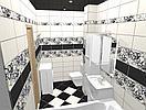 Кафель | Плитка настенная 20х40 Кураж 2 | Courazh 2 черный, фото 2