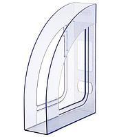 Лоток вертикальный А4, 70мм, тонированный голубой Стамм Респект ЛТ149