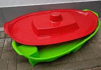 Песочница - бассейн Doloni корабль с крышкой зеленый/красный