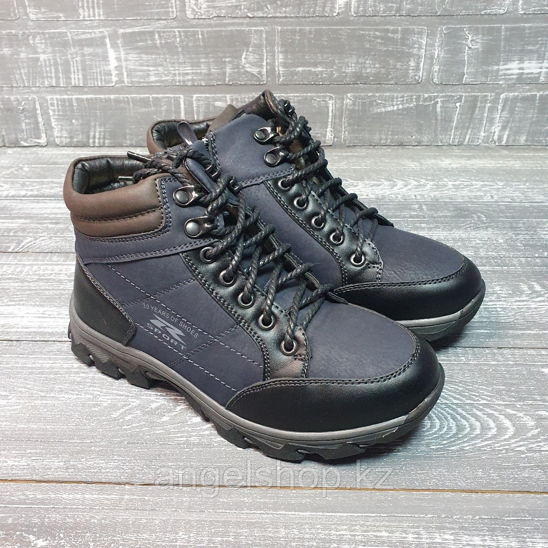 Ботинки на шнурках прошитые