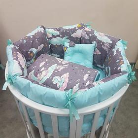Комплекты постельное белья из нескольких предметов на кровать для новорожденных