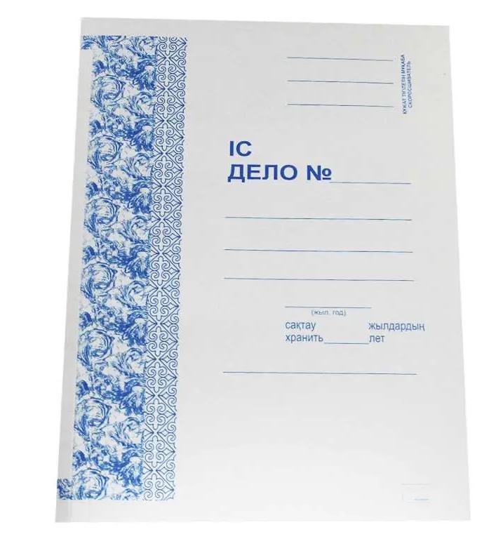Папка-скоросшиватель картонная KUVERT, А4 формат, 360 гр, белая