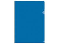 Папка-уголок OfficeSpace, А4, 150 мкм, синяя