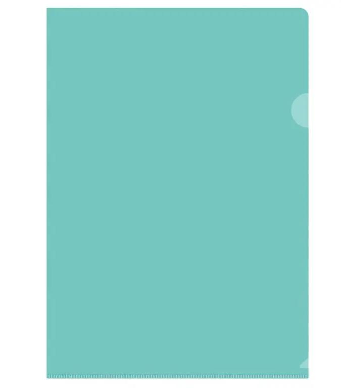 Папка-уголок OfficeSpace, А4, 150 мкм, зеленая