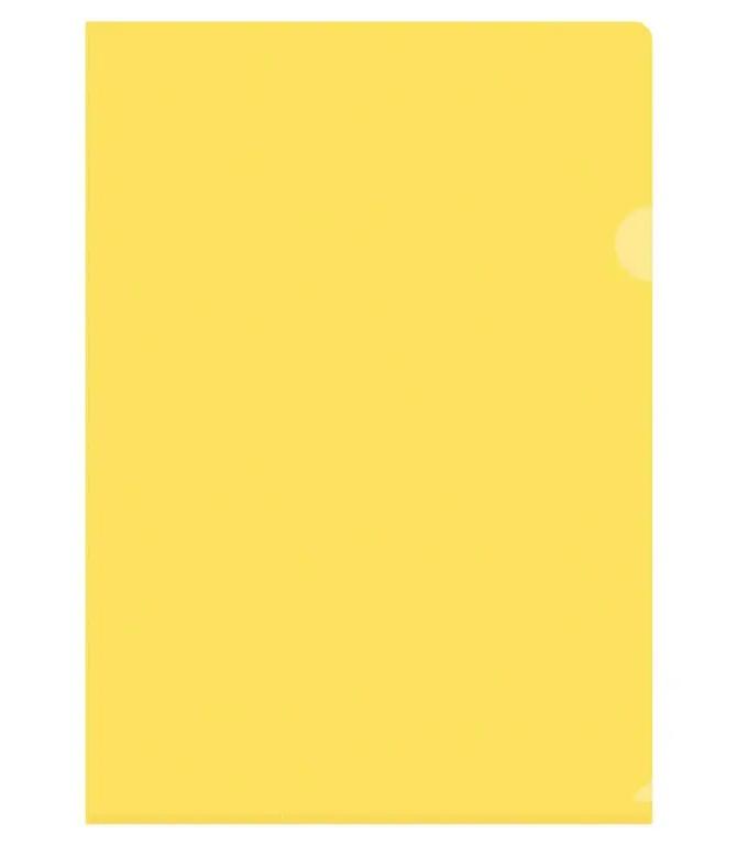 Папка-уголок OfficeSpace, А4, 150 мкм, желтая
