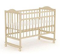 """Кровать детская Фея """"204"""" (Кровать детская  Фея """"204"""", (бежевый), состав - дерево (береза), колёса, полозья"""