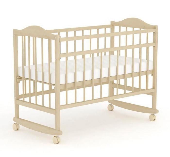 """Кровать детская Фея """"204"""" (Кровать детская  Фея """"204"""", (белый), состав - дерево (береза), колёса, полозья для"""