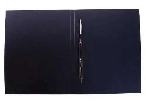 Папка-скоросшиватель с пружинным механизмом OfficeSpace, А4, черная