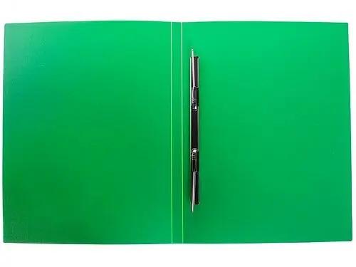 Папка-скоросшиватель с пружинным механизмом OfficeSpace, А4, зеленая