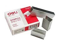 Скобы DELI для степлера №23/23 (240 листов) 1000 шт/кор
