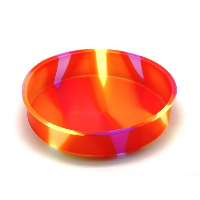 Форма для выпечки «Торт», круглая, цвет оранжевый