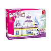 Игровой конструктор Ausini 24806 Мир Чудес Сказочный замок 614 деталей Цветная коробка