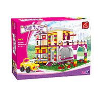 Игровой конструктор Ausini 24903 Мир Чудес Большой двухэтажный дом 741 деталь Цветная коробка