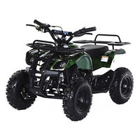 Квадроцикл детский бензиновый MOTAX ATV Х-16 Мини-Гризли с Механическим стартером, зеленый камуфляж