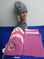 Комплект весенний для девочки с шарфом-снудом. Фирма Agbo