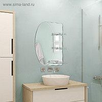 Зеркало в ванную комнату 80×70 см Ассоona A603, 3 полки