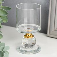 """Подсвечник стекло на 1 свечу """"Прозрачность"""" 9,2х5х5 см"""