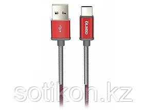 Кабель OLMIO HD, USB 2.0 - USB Type-C, 1.2м, 2.1A, красный